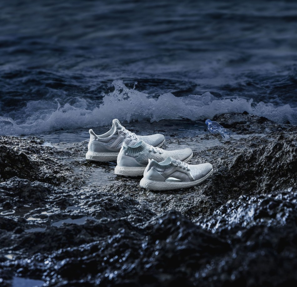 Run greatness with the new white adidas x Parley UltraBOOST collection that injects purpose into style and performance. The next generation adidas Parley UltraBOOST, UltraBOOST X and UltraBOOST Uncaged in white is a wake-up call to the world about the global coral bleaching crisis. Available for purchase on June 28, 2017. (PRNewsfoto/Runtastic)