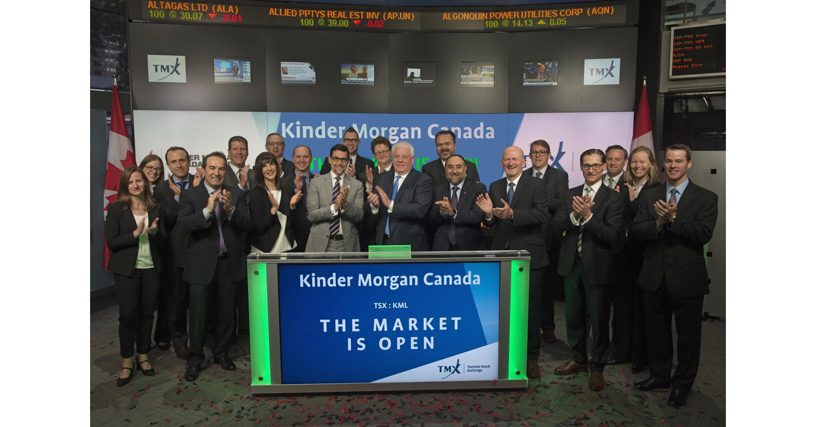 Kinder Morgan Stock Quote Toronto Stock Exchange Welcomes Kinder Morgan Canada