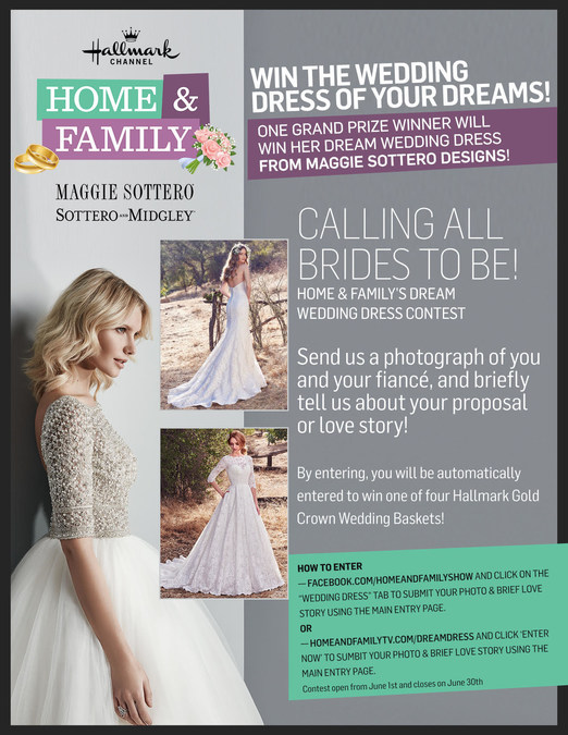 win the wedding dress of your dream on hallmark channels home family