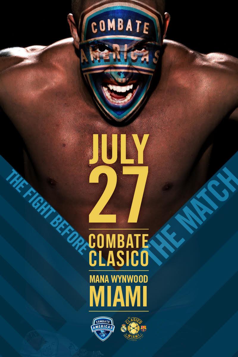 """Relevent Sports, una división de RSE Ventures, se ha asociado con Combate Americas para producir """"Combate Clásico"""", un evento televisivo en vivo y de talla mundial de MMA, en Miami, Florida, el jueves 27 de julio"""