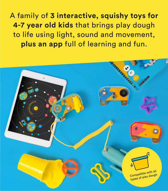 Award winning toy maker launches Kickstarter to support trio of electronic dough kits that use sound, movement and light to inspire hands-on learning