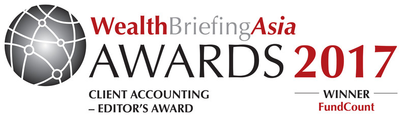 FundCount was awarded Best Client Accounting system at the WealthBriefingAsia Awards in Singapore, on June 1, 2017.