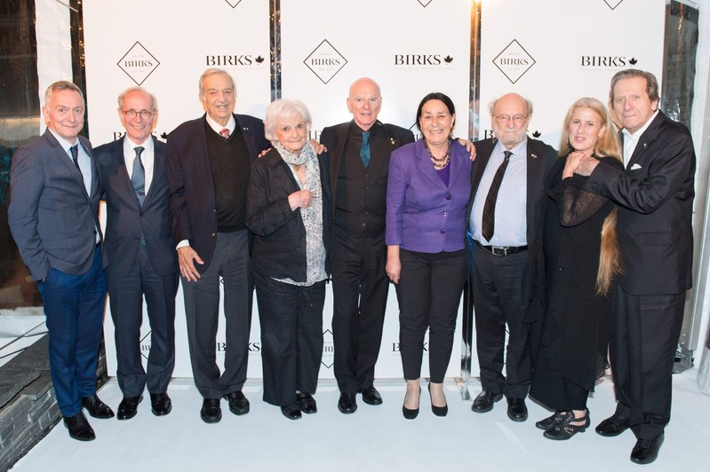 Past laureates, distinguished by their remarkable careers and many outstanding accomplishments were in attendance at the event including: Michel Marc Bouchard (GGPAA 1993), Rock Demers (GGPAA 1998), Jean André Élie (Ramon John Hnatyshyn Award 2011), Paul-André Fortier (GGPAA 2012), Margie Gillis (GGPAA 2011), Suzanne Lebeau (GGPAA 2006), Jeanne Renaud (GGPAA 1995) and Joseph Rouleau (GGPAA 2004). (CNW Group/Birks Group Inc.)