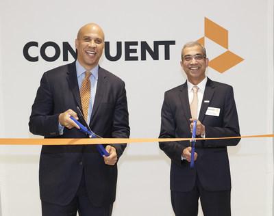 Senator Cory Booker and Ashok Vemuri, CEO, Conduent.