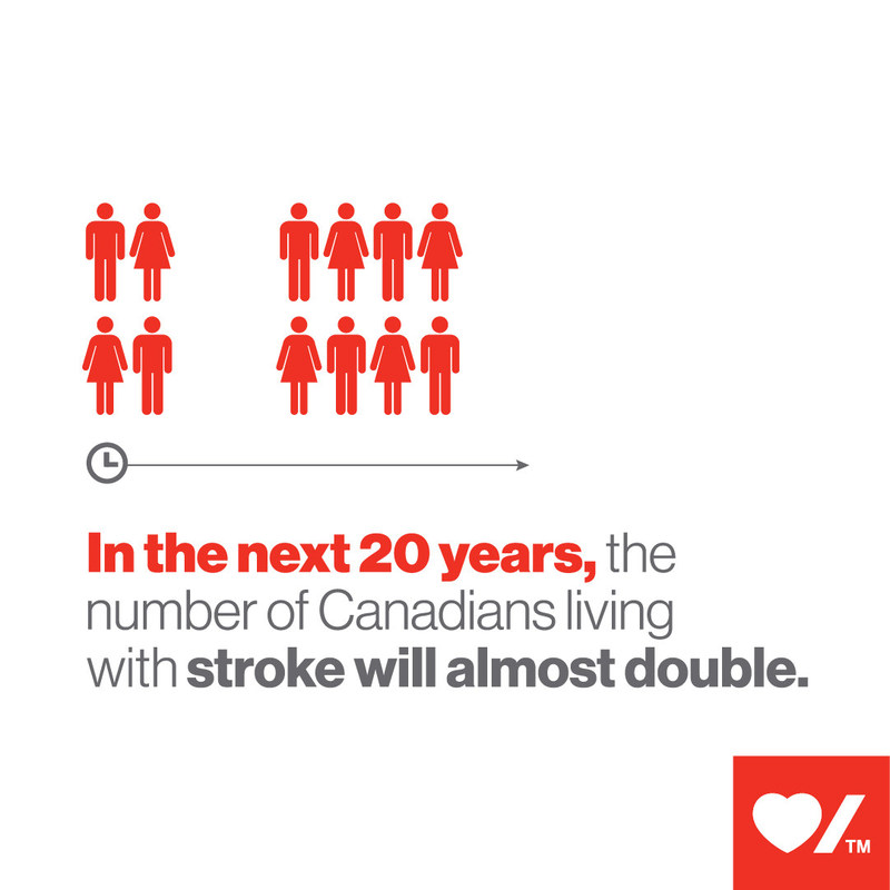 In the next 20 years, the number of Canadians living with stroke will almost double (CNW Group/Heart and Stroke Foundation)