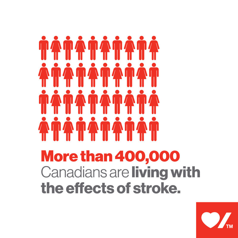 More than 400,000 Canadians are living with the effects of stroke (CNW Group/Heart and Stroke Foundation)