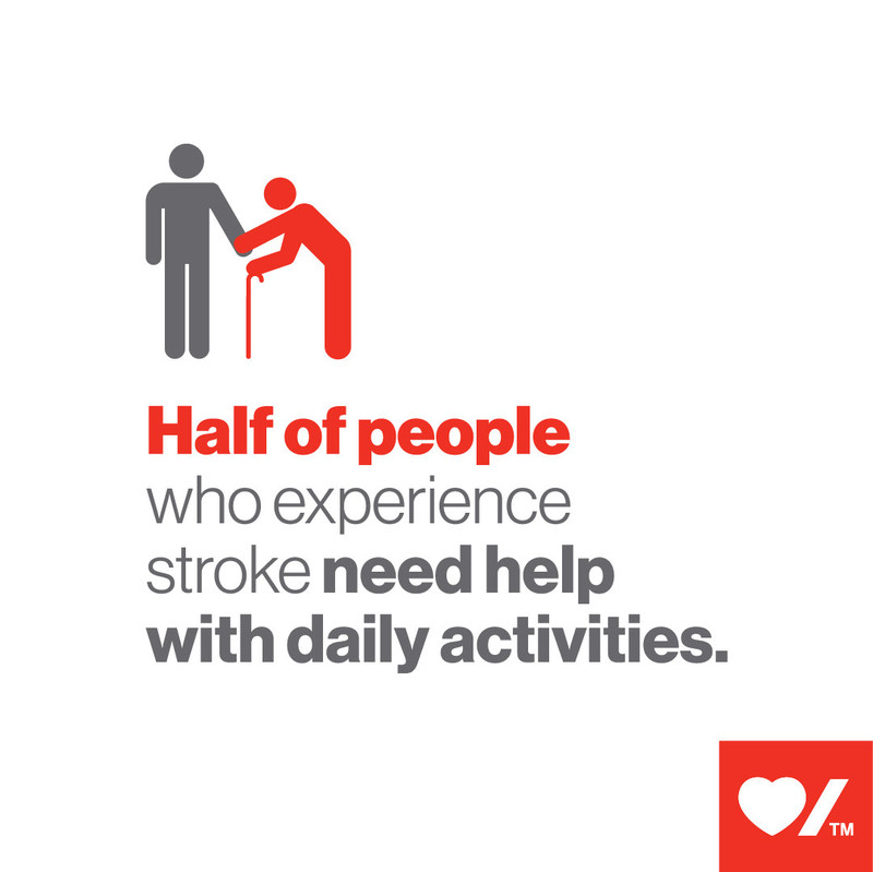 Half of people who experience stroke need help with daily activities (CNW Group/Heart and Stroke Foundation)