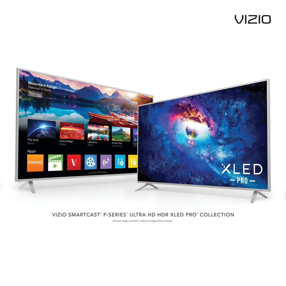 VIZIO SmartCast P-Series Ultra HD HDR XLED Pro Displays Debut In Canada, Delivering Ultimate Picture Quality Complete with Enhanced Detail, Color and Contrast. Collection Features A Revamped Smart Streaming Experience Coming This Summer with VIZIO SmartCast TV.