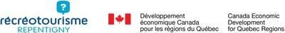 Logo : Récréotourisme Repentigny / Logo : Développement économique Canada pour les régions du Québec (Groupe CNW/Récréotourisme Repentigny)