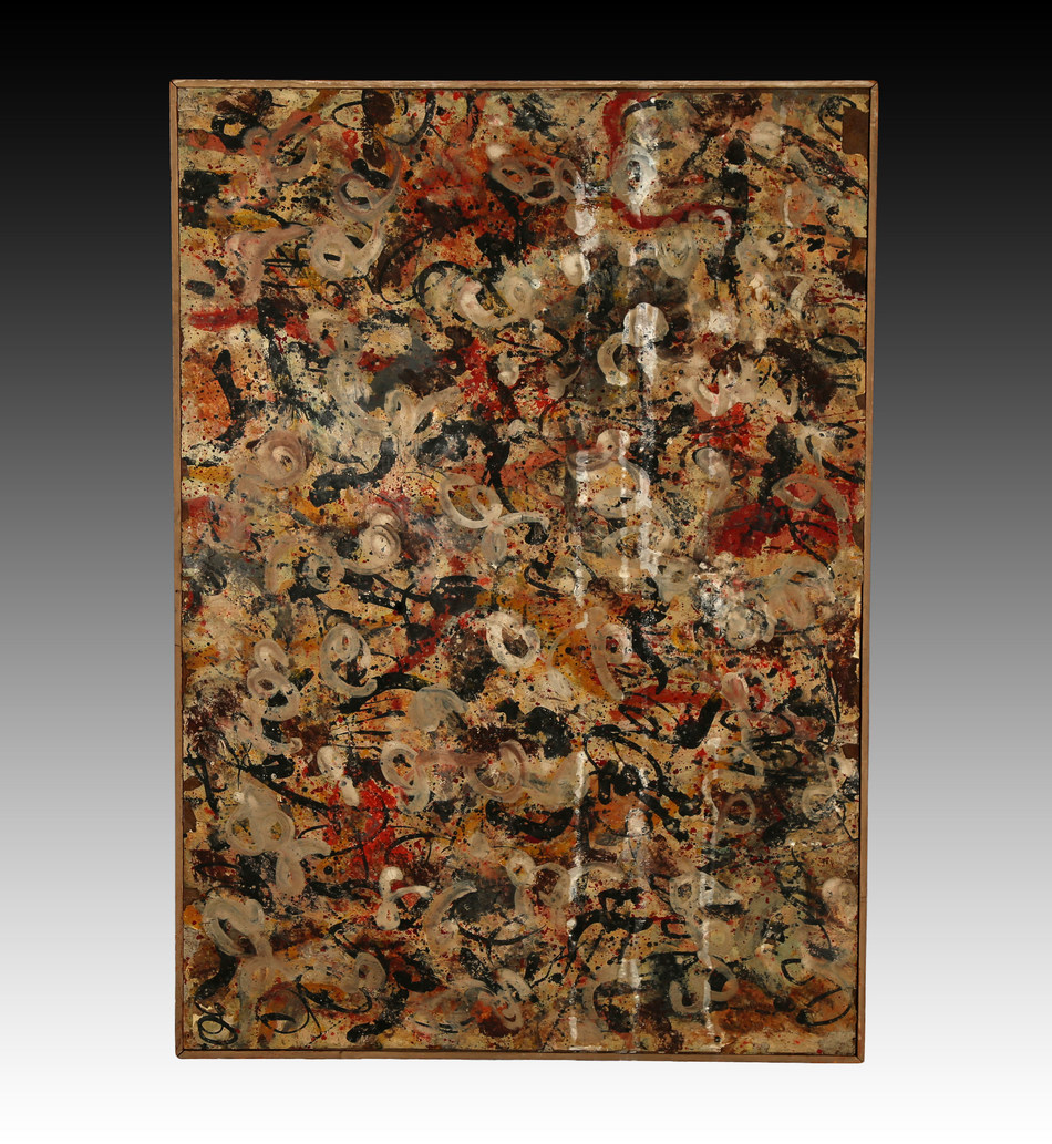 A rare, lost Jackson Pollock painting is going up for auction on Tuesday, June 20 at J. Levine Auction & Appraisal after the Scottsdale, Arizona-based auction house spent nearly 18 months and tens of thousands of dollars researching and authenticating the forensics and ownership history. Online bidding is available now with live bidding slated to begin at 11 a.m. PT on June 20. The painting has strong provenance, and a full forensic report is available. www.jlevines.com. Credit: J. Levine