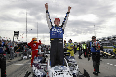 Graham Rahal and Honda swept both races of the IndyCar Series double header weekend in Detroit.