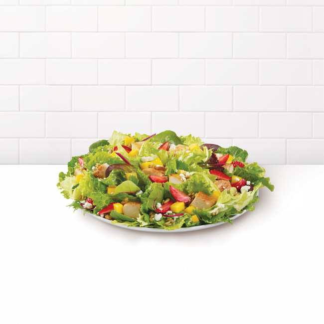 Wendy's balances sweet and tangy in its refreshing, seasonal summer salad. The Strawberry Mango Chicken Salad introduces juicy mangoes - the world's most consumed fruit - to Wendy's unique salad offerings- alongside fresh, hand-cut strawberries, crumbled feta cheese and crunchy sunflower seeds.