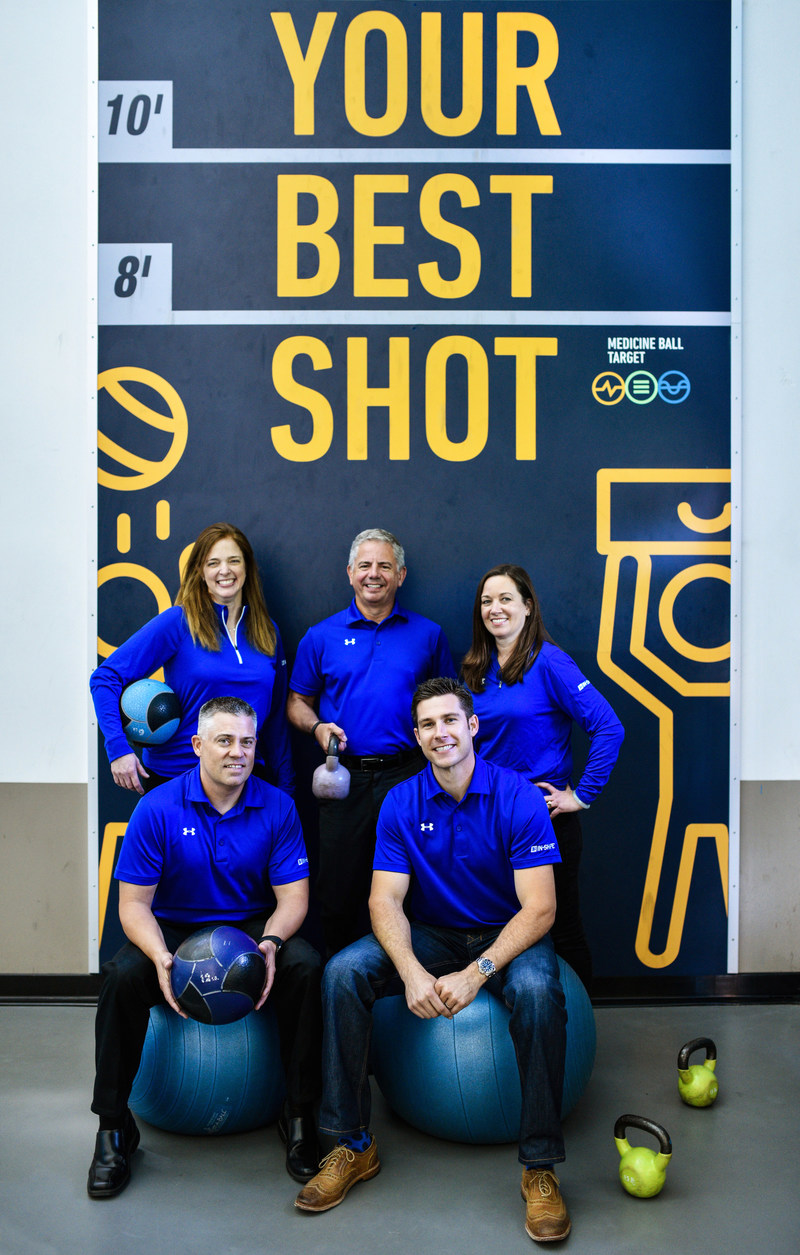 In-Shape Health Clubs announced innovative company restructure with four strategic internal promotions. Francesca Schuler, Rich Nelsen, Kris Mulkey, George Bishop and Kris Johnson (L to R, top row first)