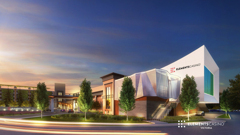 Elements Casino Victoria is scheduled to open in the first half of 2018 and will replace the existing View Royal Casino that is located in the Town of View Royal, British Columbia. (CNW Group/Great Canadian Gaming Corporation - Media Relations)