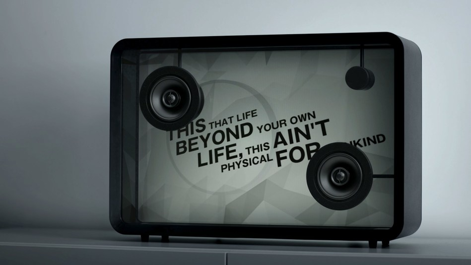 """The video """"Lyric Speaker visualizes  """"Flying Lotus - Never Catch Me ft. Kendrick Lamar"""" is available now."""