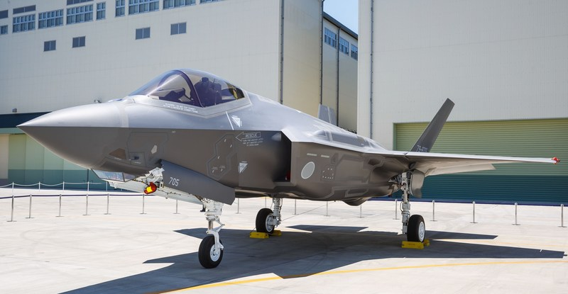AX-5, the first Japanese-assembled F-35A was unveiled in Nagoya Japan on 5 June 2017.  The aircraft was built at Mitsubishi Heavy Industries (MHI) F-35 Final Assembly and Check Out (FACO) facility. The Japan F-35 FACO is operated by MHI with technical assistance from Lockheed Martin and oversight from the U.S. Government. Photo by Thinh Nguyen, Lockheed Martin