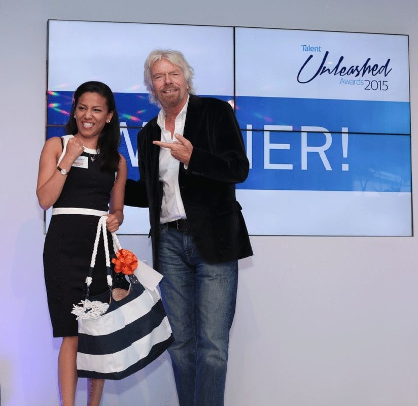 Sir Richard Branson at the Talent Unleashed Awards (PRNewsfoto/Talent)