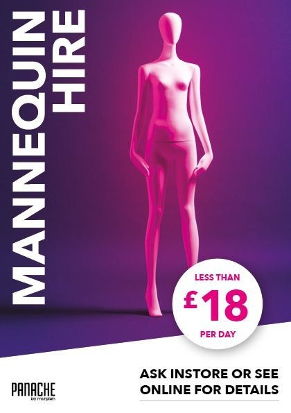 Mannequin Hire from Morplan is now available, for less than £18 per day (PRNewsfoto/Morplan)