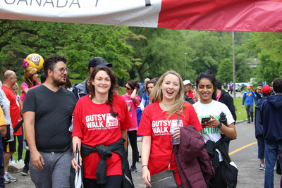 Nearly 20,000 people laced up their sneakers on Sunday at over 60 Gutsy Walk locations across the country. (CNW Group/Crohn's and Colitis Canada)