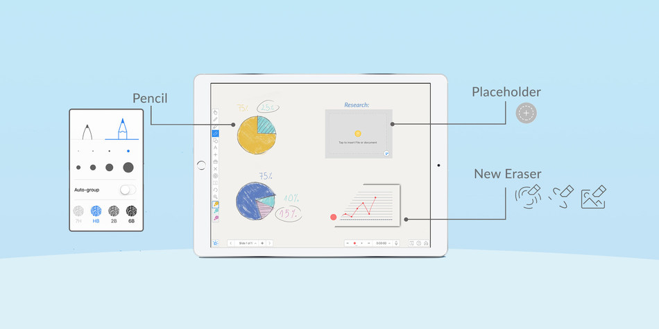 Explain Everything Interactive Whiteboard v1.90 now available for iPad