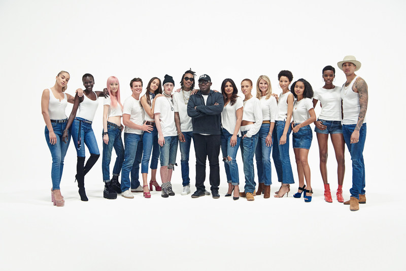 The cast of 'Bridging the Gap' along with Edward Enninful