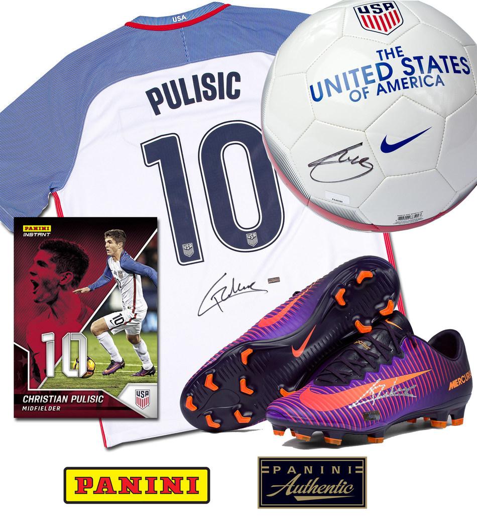Panini America Inks U.S. Soccer Men's National Team Star Christian Pulisic To Exclusive Autograph, Memorabilia Deal