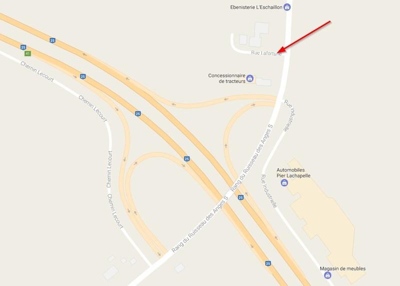 Briefing technique et prise d'images du chantier de l'autoroute 25 à Saint-Roch-Ouest (Groupe CNW/Ministère des Transports, de la Mobilité durable et de l'Électrification des transports)