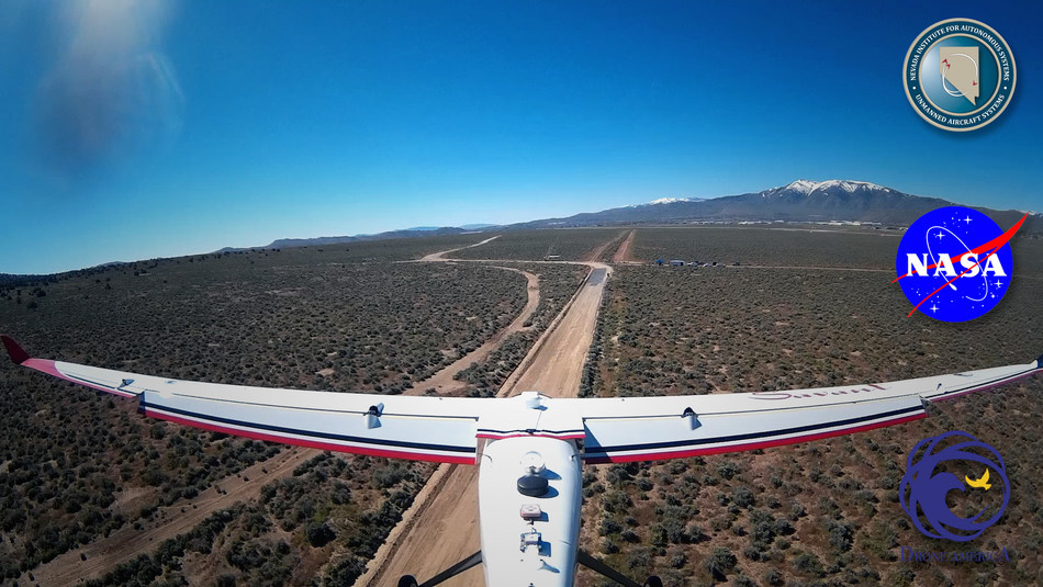 Drone America conducting flight approach with Savant UAS during NIAS NASA UTM Test (Image courtesy of Drone America)