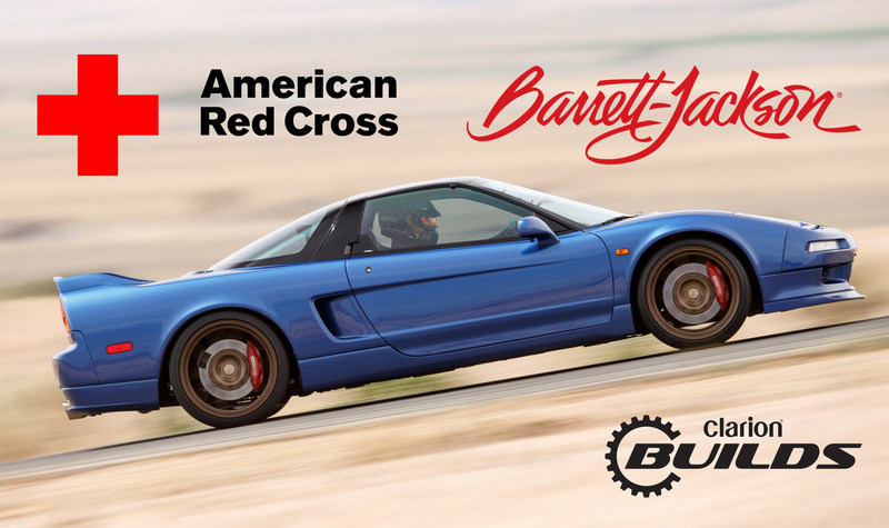 Clarion Helps American Red Cross Prevent and Alleviate Human Suffering Around the Globe - Entire Barrett-Jackson Auction Hammer Price from Clarion Build's Beautifully Restored and Tastefully Modified First-Generation Acura NSX to be Donated to Support the American Red Cross.