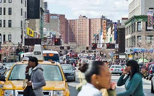 Historic 125th St in Harlem, New York City