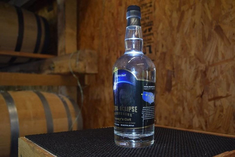 Total Eclipse Moonshine, the Official Drink of the 2017 Solar Eclipse, is distilled and bottled by Casey Jones Distillery.