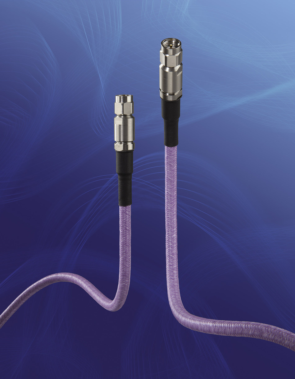 W. L. Gore & Associates (Gore) has introduced the new GORE® PHASEFLEX® Microwave/RF Test Assemblies, Type 0N for High Density Test/Interconnection – a lightweight assembly that ensures consistent, repeatable measurements with stable electrical performance up to 50 GHz. These are the smallest, lightest, most internally ruggedized assemblies on the market today for modular, multi-port, and multi-site test applications. Photo: W. L. Gore & Associates, Inc.