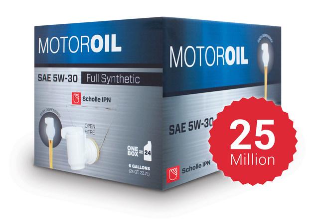 El paquete de bolsa en caja de Scholle IPN para líquidos de automóviles ha ganado numerosos premios desde su lanzamiento en 2008.