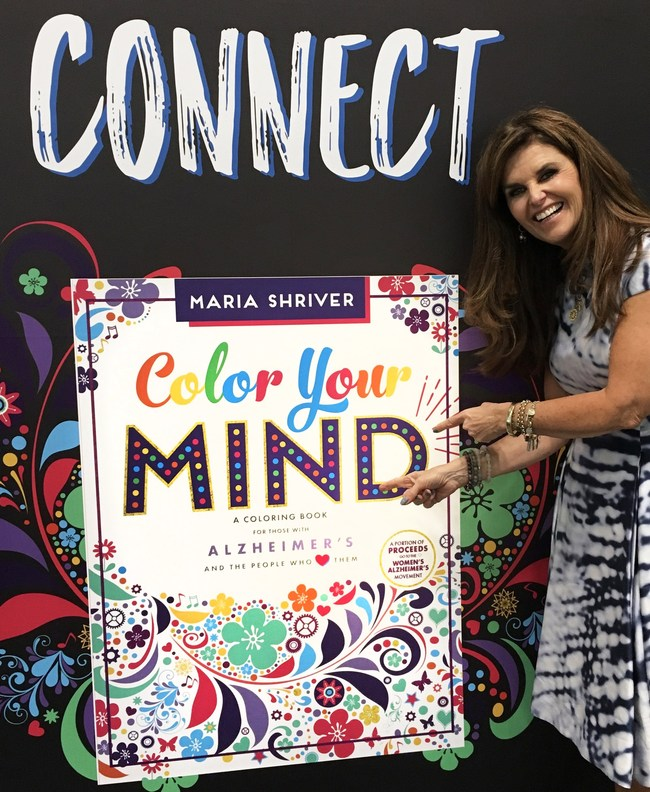 """Maria Shriver promoting her book """"Color Your Mind"""" at Book Expo."""
