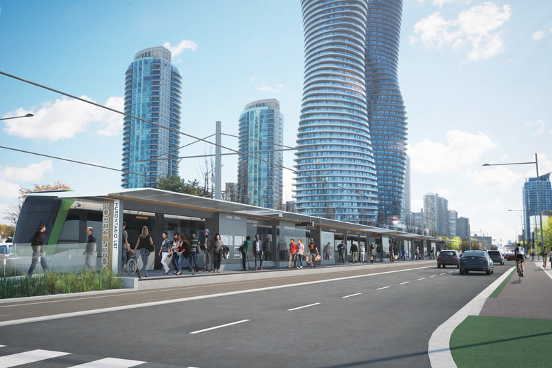 Hurontario LRT - Robert Speck stop in Mississauga (CNW Group/Infrastructure Ontario)
