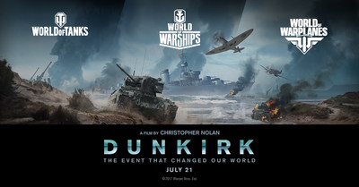 "Wargaming partners with Warner Bros. for epic action thriller ""DUNKIRK"", written and directed by Christopher Nolan. Leading WWII strategy video game publisher honors historic ""Miracle of Dunkirk"" evacuation across World of Tanks, World of Warships and World of Warplanes."