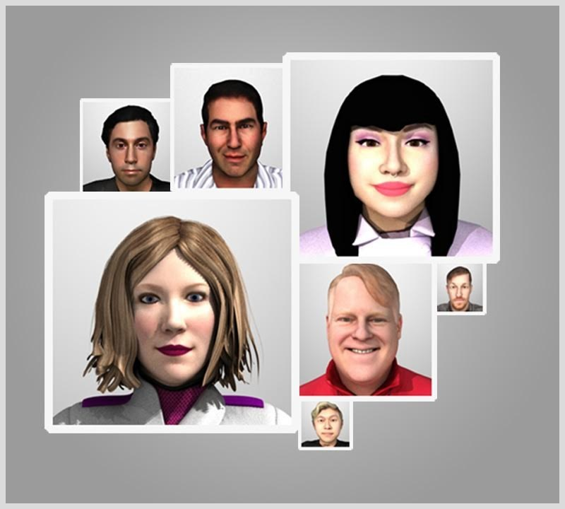 High Fidelity avatars scanned by Doob3D and used in virtual reality.