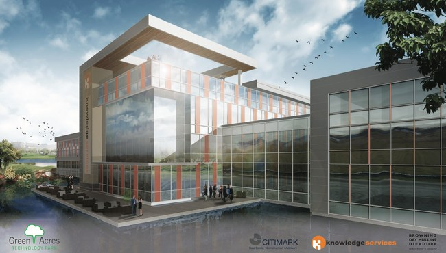 Conceptual design for the new Knowledge Services headquarters at Green Acres Technology Park.