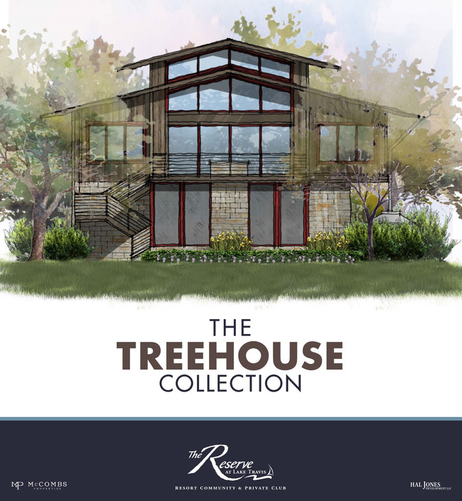 Example rendering of The Reserve at Lake Travis' Treehouse Collection