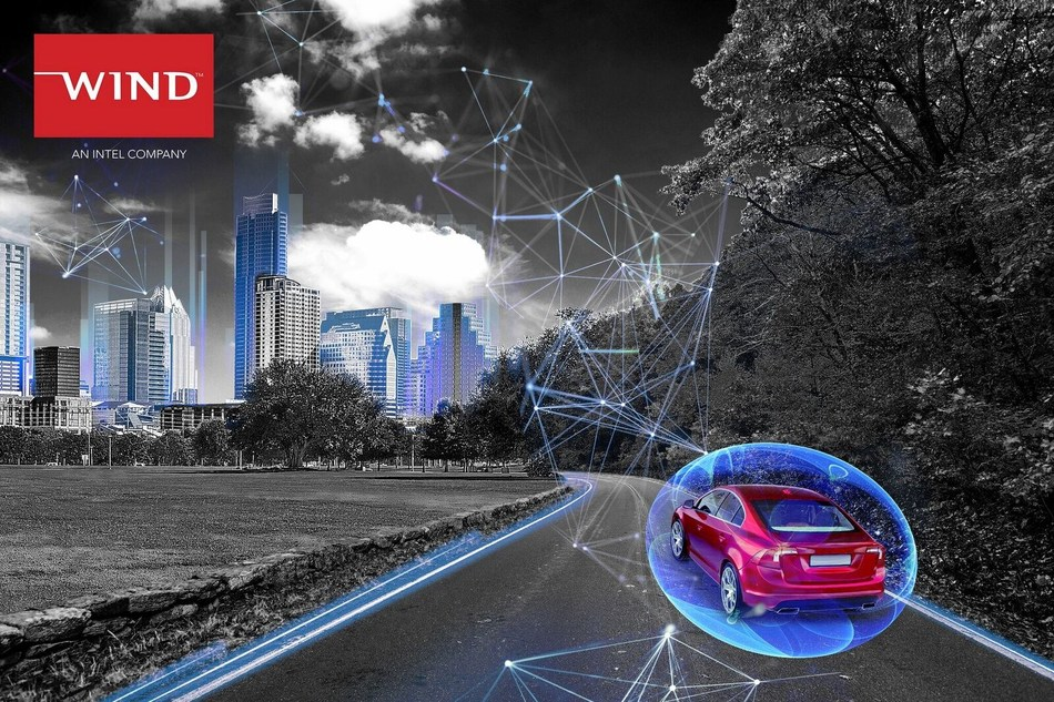 Next-gen autonomous cars will communicate with the world around them. Image courtesy of Wind River.