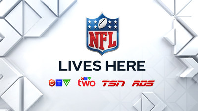 Bell Media is the exclusive broadcast partner of the NFL in Canada. (CNW Group/Bell Media)
