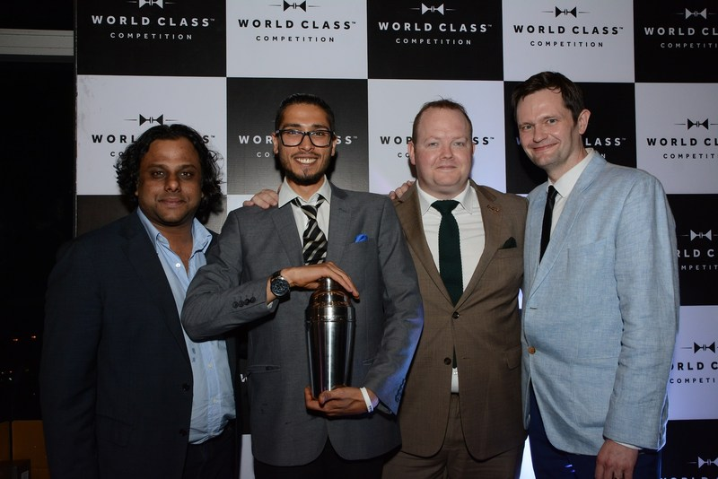 Nikhil Agarwal, Winner Rohan Rege, Donald Colville and Nicholas Ord at Diageo Reserve World Class 2017 (PRNewsfoto/Diageo Reserve World Class 2017)