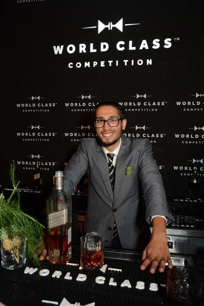 Winner Rohan Rege with his winning drink at Diageo Reserve World Class 2017 (PRNewsfoto/Diageo Reserve World Class 2017)