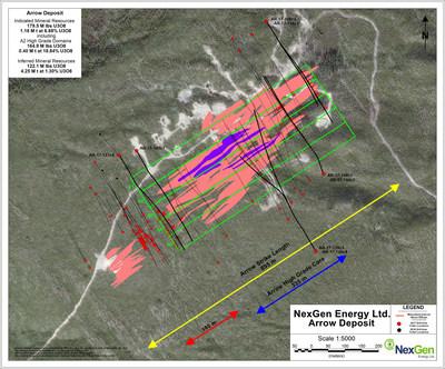 Figure 2: Arrow Deposit Drill Hole Locations (CNW Group/NexGen Energy Ltd.)