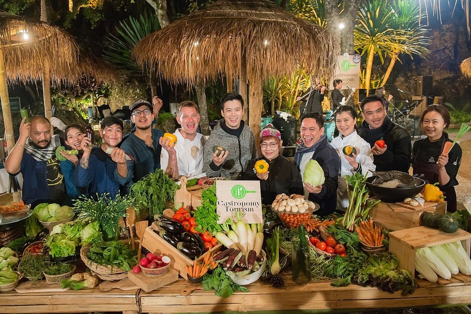Department of Tourism's Gastronomy Trip: Experience Ingredients from The Royal Project and Taste Wonderful Dishes by Renowned Chefs in Thailand (PRNewsfoto/Gastronomy Tourism 2017)