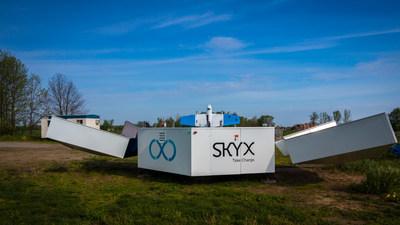 SkyOne aboard the xStation, ready for liftoff. Photo by Eitan Rotbart, SkyX (PRNewsfoto/SkyX)