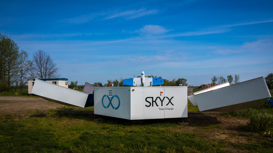 SkyOne aboard the xStation, ready for liftoff. Photo by Eitan Rotbart, SkyX (PRNewsfoto/SkyX)