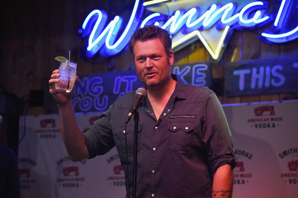 Blake Shelton celebrates the expansion of Smithworks Vodka in Nashville, Tennessee at karaoke bar WannaB's on June 6, 2017. (Erika Goldring/Getty)