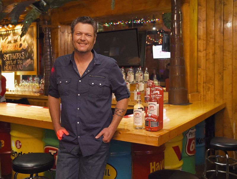 Blake Shelton welcomes Smithworks Vodka to the heart of country music on June 6, 2017 in Nashville, Tennessee. (Erika Goldring/Getty)