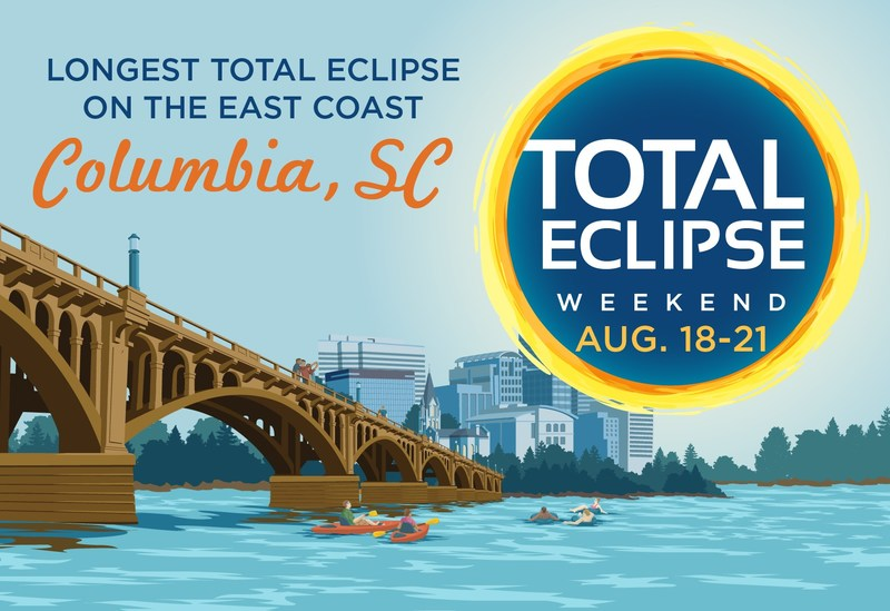 "Dubbed the ""Total Eclipse Capital of the East Coast,"" where viewers can experience totality for up to 2 minutes and 36 seconds, Columbia, S.C. is home to the longest total solar eclipse on the East Coast for a metro area and will host Total Eclipse Weekend Columbia, S.C., a long weekend of more than 50 eclipse-related festivals and events, August 18-21, 2017. Plan your trip at https://www.totaleclipsecolumbiasc.com. Facebook https://www.facebook.com/totaleclipsecae @TotalEclipseCAE #RealColumbiaSC"